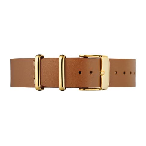 Light Brown Leather Nato Strap