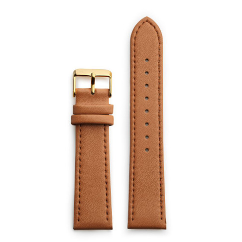 Brown Vegan Leather Strap