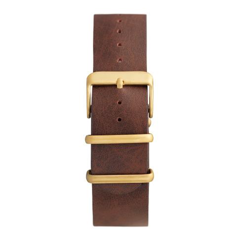 Brown Vegan Leather Nato Strap